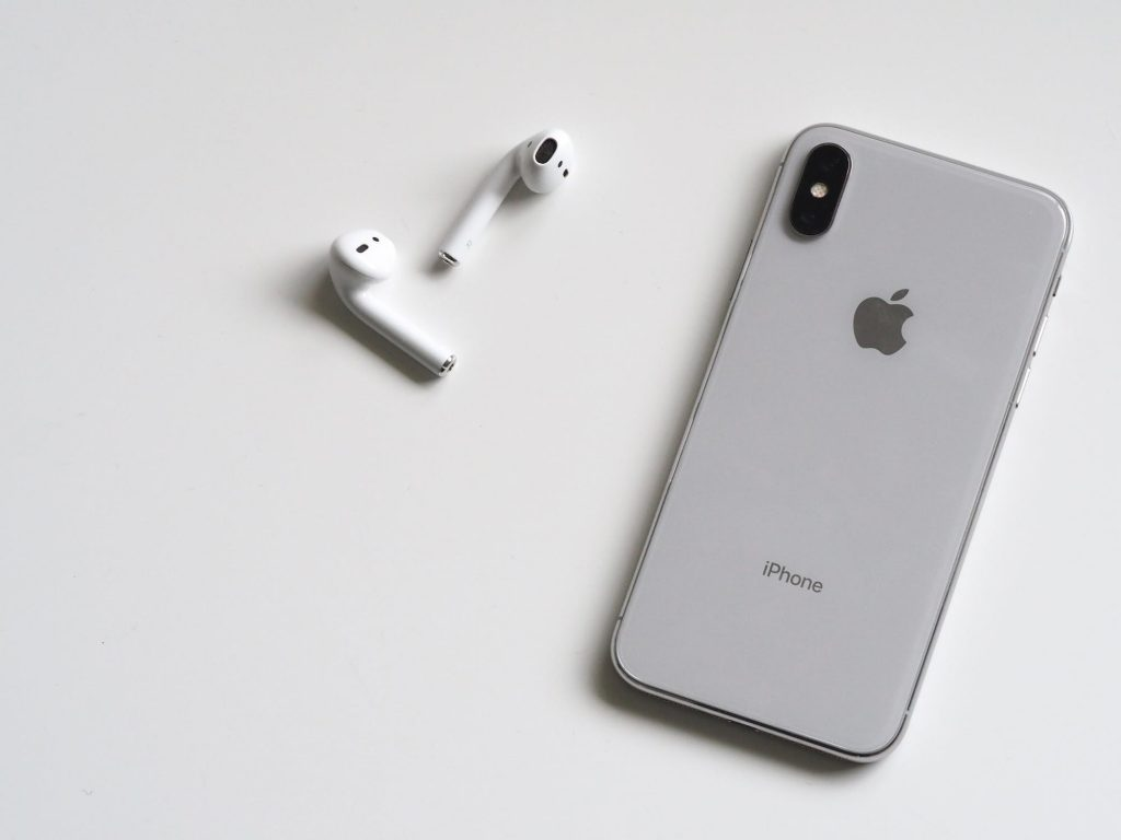 Apple iPhone and Airpods