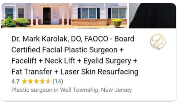 Plastic surgeon listing