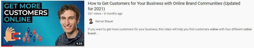 Online brand communities video 2021