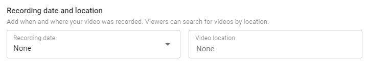 YouTube recording location